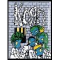 Korn - ASYLUM. Tygmärke